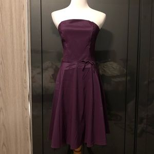 Topshop Strapless Purple Cocktail Dress